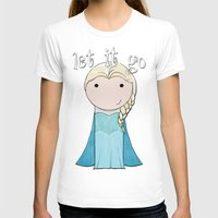 frozen elsa T-shirts featuring Elsa: Frozen  by Jen Talley
