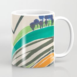 Landscape in many colours and lines Coffee Mug