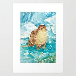 Animals from Formosa-Otter Art Print