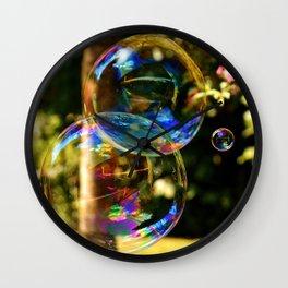 Bubbles   Bulles Wall Clock
