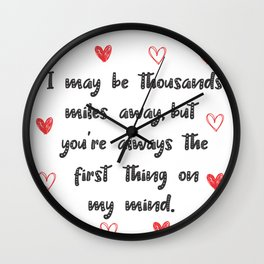 Long Distance Love Relationship Wall Clock