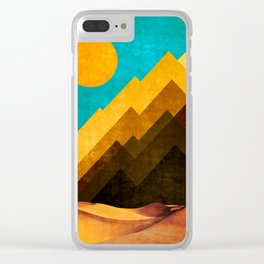 DESERT XOX Clear iPhone Case