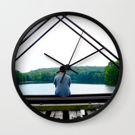 Pensive and Lonesome Wall Clock