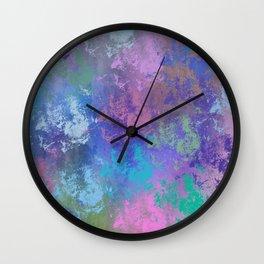 Modern grunge digitally painted abstract Wall Clock
