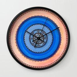 Mandala Henna Sacral Art - Vishudha Wall Clock
