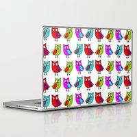 owls Laptop & iPad Skins featuring Owls by BlackBlizzard