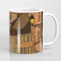 jazzberry Mugs featuring Evening by Megs stuff