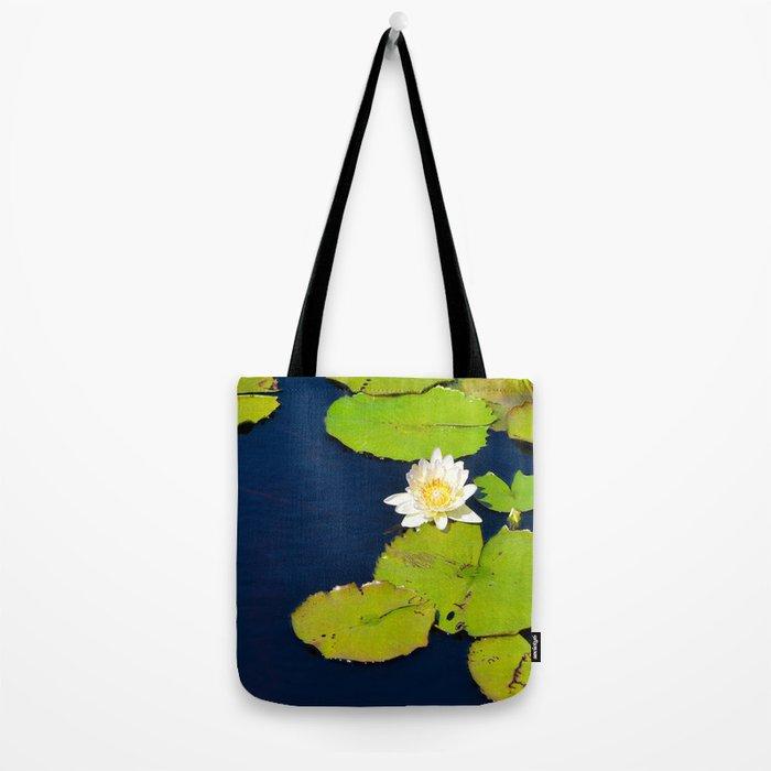 Dark Blue Pond by Teresa Thompson Tote Bag