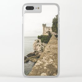 Flying on the castle Clear iPhone Case