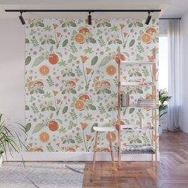 Clementine Matcha Wall Mural