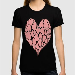 A Heart Full Of Love Pink Valentine Hearts Within A Heart T-shirt