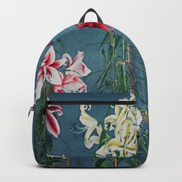 Lilies Traditional Japanese Flora Backpack