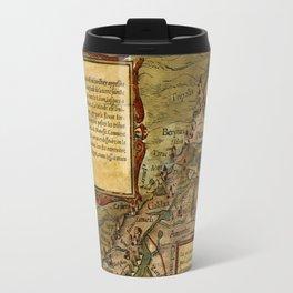 Map Of The Holy Land 1544 Travel Mug