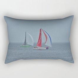 part 3 of 4 of Sailing Battle 42-56  - Transat Quebec St-Malo Rectangular Pillow