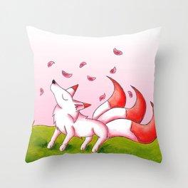 Sakura Winds Throw Pillow