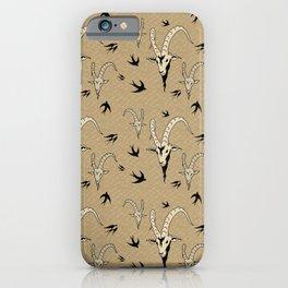 Wonderful billy goat skull pattern iPhone Case