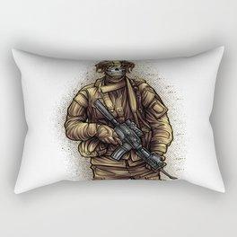 Soldier | War Weapon Defense Attack Military Gift Rectangular Pillow