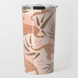 Vintage, Boho Tigers and Bamboos Travel Mug