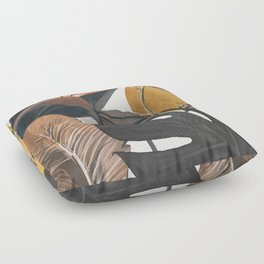 Abstract Tropical Art III Floor Pillow