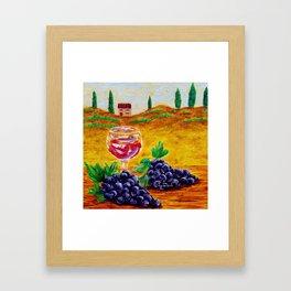 Taste Of Italy By Annie Zeno Framed Art Print