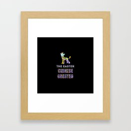 Chinese Crested gifts | Easter gifts | Easter decorations | Easter Bunny | Spring decor Framed Art Print