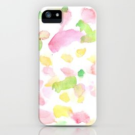 180527 Abstract Watercolour 8 | Watercolor Brush Strokes iPhone Case