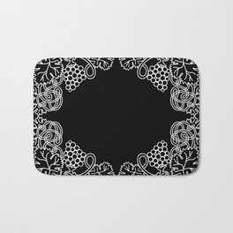 Abstract frame with bunches of grapes Bath Mat