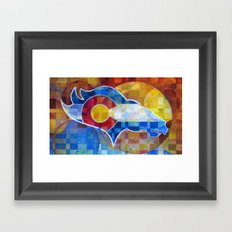 BRONCOS Framed Art Print