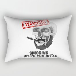 Smoking helps y relax Rectangular Pillow