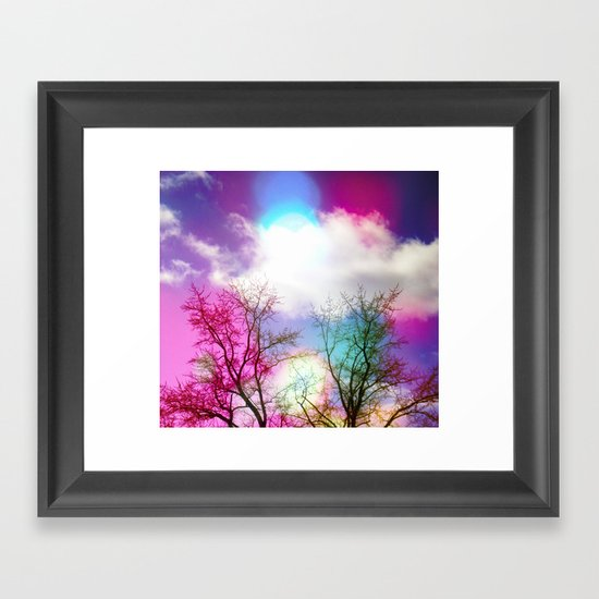 Flavored Skies  Framed Art Print