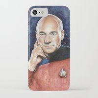 picard iPhone & iPod Cases featuring Captain Picard by Olechka