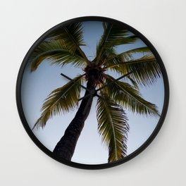From under the palm Wall Clock