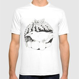 Crow with Pumpkins and Oak T-shirt