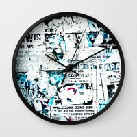 movie posters Wall Clocks featuring posters by Renee Ansell
