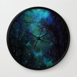 Darkness into the Forest Wall Clock