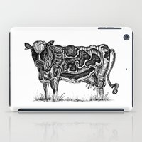 cow iPad Cases featuring Cow by Ejaculesc