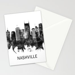 Nashville Tennessee Skyline BW Stationery Cards