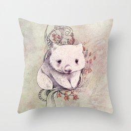 Wombat! Throw Pillow