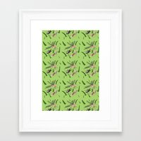 insects Framed Art Prints featuring Insects by The Bird Draws