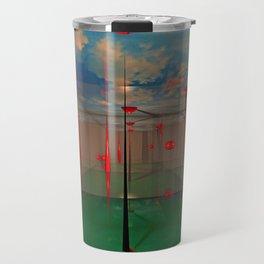 Futuristic Landscape 3D Modeling Sci-Fi Art Travel Mug