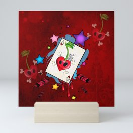 The card heart A Mini Art Print