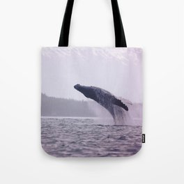 Breaching Humpback Tote Bag