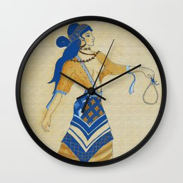 Minoan Woman Wall Clock