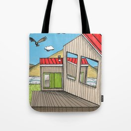 Skewed by Debbie Porter - Designs of an Eclectique Heart Tote Bag