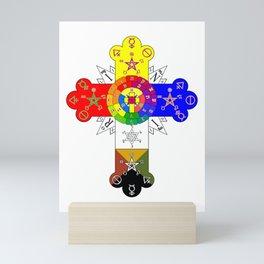 Freemasonic Rosy Cross Mini Art Print