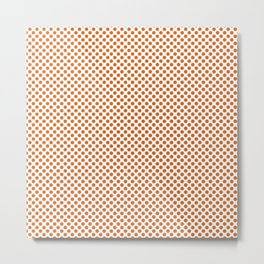 Autumn Maple Polka Dots Metal Print