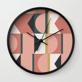 Maximalist Geometric 01 Wall Clock