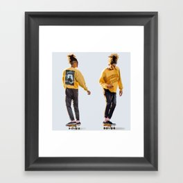 Jaden Smith looks Framed Art Print