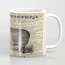 french dictionary print jubilee crown western country farm animal sheep Coffee Mug