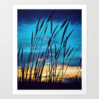 western Art Prints featuring Western Sky by Melanie Ann